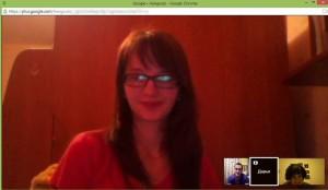 Hangouts с учениками профильной группы по литературе.